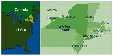 Alfred State University | Indian Student Abroad on map of alfred maine, map of new yorl, map of luling texas,
