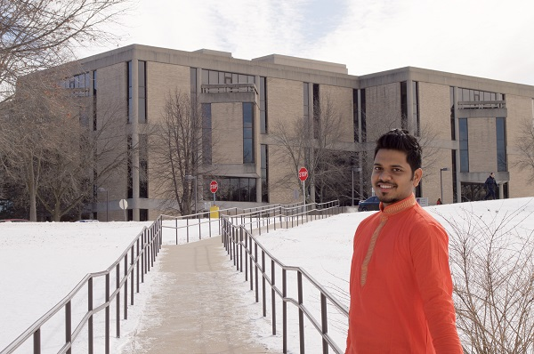 Ashish at WIU library