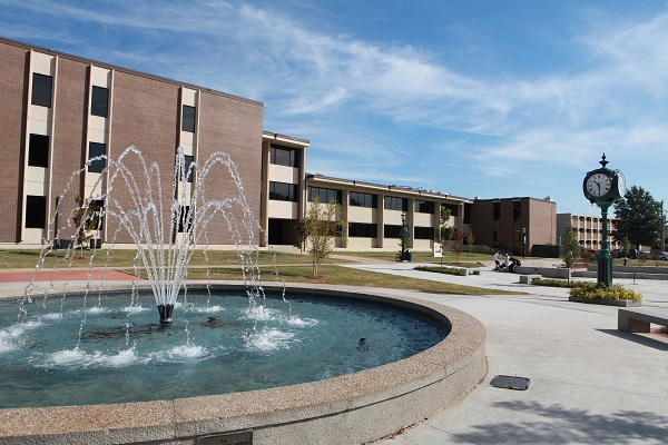 Northeastern State University fountain