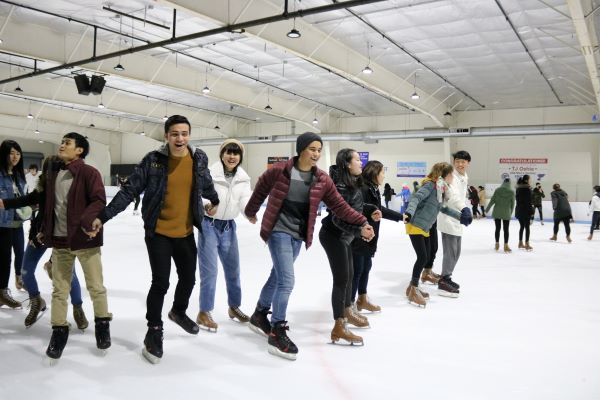 Edmonds Community College students skating