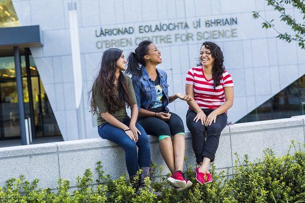 Three ucd international students